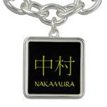 Nakamura Monogram Charm Bracelets