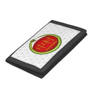 Nakamura Monogram Snake Trifold Wallet
