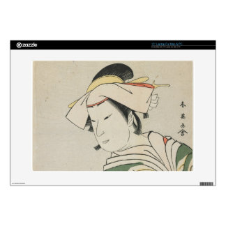 "Nakamura Noshio II as Tonase, 1795 15"" Laptop Decals"