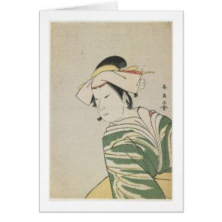 Nakamura Noshio II como Tonase, 1795 Tarjeta De Felicitación