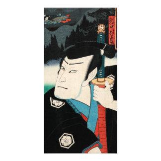 Nakamura Shikan IV in the role of Fuwa Kazuemon Card