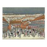 Nakanocho en Shin Yoshiwara por Utagawa, Toyoharu Postales