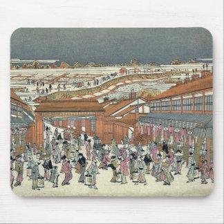 Nakanocho in Shin Yoshiwara by Utagawa Toyoharu Mousepads