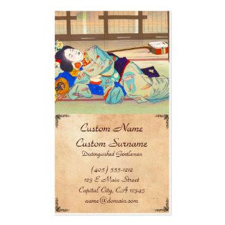 Nakazawa Hiromitsu Inn at Gion japan japanese lady Business Card