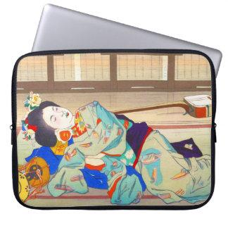 Nakazawa Hiromitsu Inn at Gion japan japanese lady Laptop Computer Sleeve