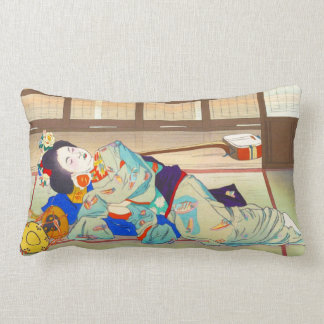 Nakazawa Hiromitsu Inn at Gion japan japanese lady Lumbar Pillow