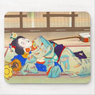 Nakazawa Hiromitsu Inn at Gion japan japanese lady Mouse Pad
