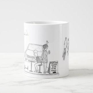 Naked Bike Ride Large Coffee Mug