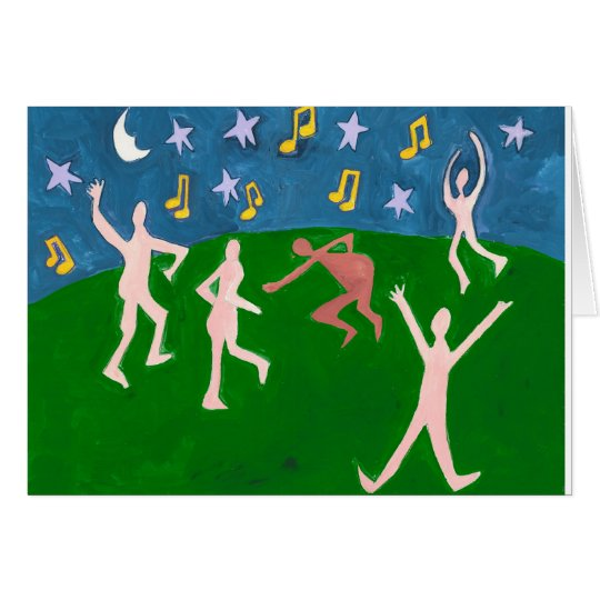 naked dancing under the stars card