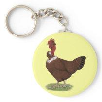 Naked-neck Hen Keychain