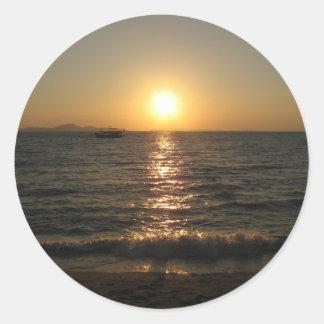Naklua Beach Sunset ... Chonburi, Thailand Classic Round Sticker