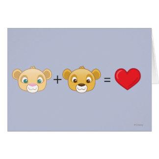 Nala+Simba=Love Card