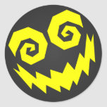 NALGames Insane In The Face Black + Yellow Round Stickers