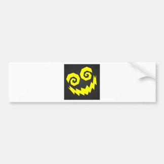 NALGames insano en el negro de la cara + Amarillo Etiqueta De Parachoque