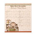 Nali Jungle Monkey Word Scramble NJM 40-pages Note Pads