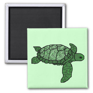 Nalu Honu (wave sea turtle) magnet