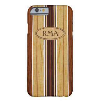 Nalu Hou Faux Koa Wood Monogram Surfboard Barely There iPhone 6 Case