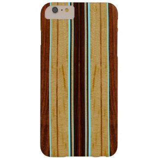 Nalu Hou Faux Koa Wood Surfboard Barely There iPhone 6 Plus Case