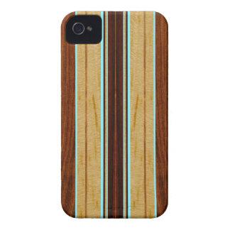 Nalu Hou Faux Koa Wood Surfboard iPhone 4 Cases