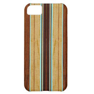 Nalu Hou Faux Koa Wood Surfboard iPhone 5 Cases