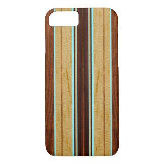 Nalu Hou Faux Koa Wood Surfboard iPhone 7 Case