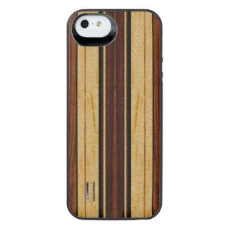Nalu Hou Faux Koa Wood Surfboard iPhone SE/5/5s Battery Case