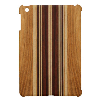 Nalu Lua Faux Koa Wood Surfboard iPad Mini Cases