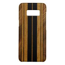 Nalu Mua Faux Koa Wood Surfboard - Black Case-Mate Samsung Galaxy S8 Case