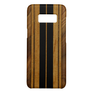 Nalu Mua Faux Koa Wood Surfboard - Black Case-Mate Samsung Galaxy S8 Case