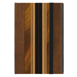 Nalu Mua Faux Koa Wood Surfboard iPad Mini Case