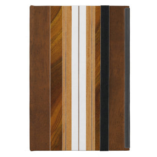 Nalu Mua Faux Koa Wood Surfboard iPad Mini Cover
