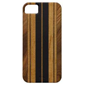 Nalu Mua Faux Koa Wood Surfboard iPhone 5 Cases
