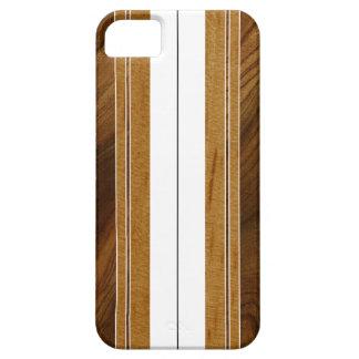 Nalu Mua Faux Koa Wood Surfboard iPhone 5 Cases