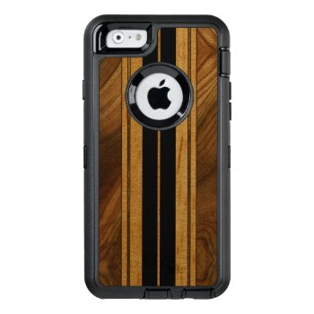 Nalu Mua Faux Koa Wood Surfboard Otterbox Defender Iphone Case by DriveIndustries at Zazzle