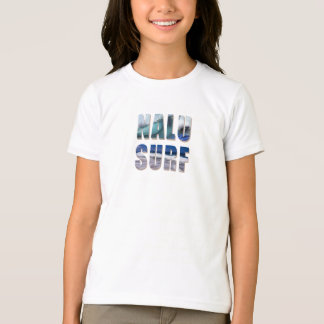 Nalu-Surf Hawaiian Wave Printed Ringer Tee