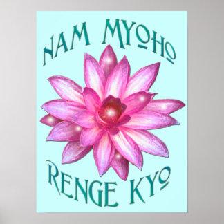 """Nam impresión del poster del Buddhism de Renge My"