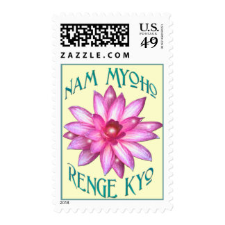 """""""Nam Myhoho Renge Kyo"""" Lotus Buddhism Stamps"""