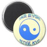 """Nam Myoho Renge Kyo"" Buddhism de Yin y de Yang Imán Para Frigorífico"