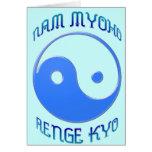 """""""Nam Myoho Renge Kyo"""" Buddhism de Yin y de Yang Tarjeta De Felicitación"""