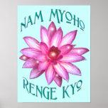 """Nam Myoho Renge Kyo""Buddhism Poster Print"