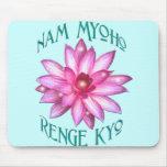 Nam Myoho Renge Kyo con el diseño floral de Lotus Tapetes De Raton