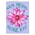 Nam Myoho Renge Kyo con el diseño floral de Lotus Tarjeta De Felicitación