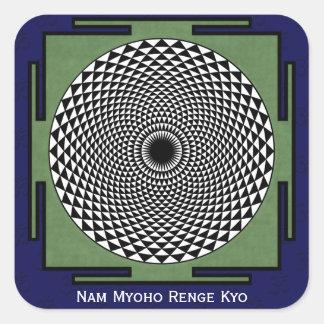 Nam Myoho Renge Kyo mantra Square Sticker