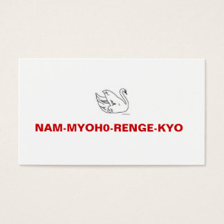 NAM-MYOHO-RENGE-KYO Meeting Invitation Card