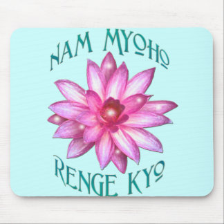 Nam Myoho Renge Kyo with Lotus Flower Design Mouse Pad