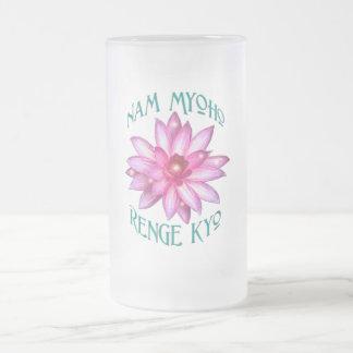 Nam Myoho Renge Kyo with Lotus Flower Design Mugs