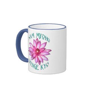 Nam Myoho Renge Kyo with Lotus Flower Design Mug