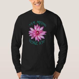 Nam Myoho Renge Kyo with Lotus Flower Design T-Shirt