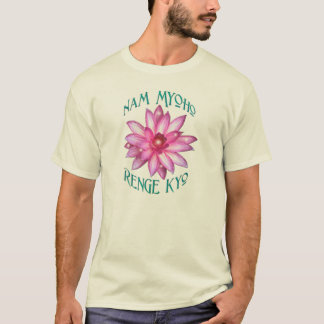 Nam Myoho Renge Kyo with Lotus Flower Design T-Shirt