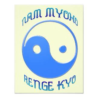 'Nam Myoho Renge Kyo' Yin & Yang Buddhism 4.25x5.5 Paper Invitation Card